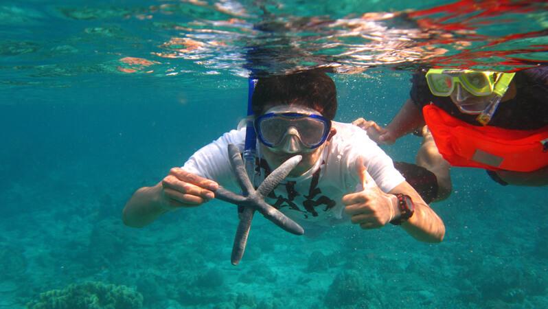 Snorkeling at Derawan Island